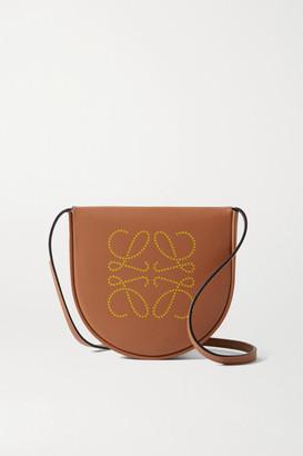 Loewe Heel Mini Leather Shoulder Bag - Tan