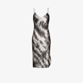 Nili Lotan Tie-Dye Silk Midi Dress