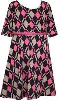 Bonnie Jean 3/4 Sleeve A-Line Dress - Big Kid Girls