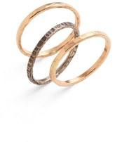 Nashelle Women's Ija Stackable Hammered Rings (Set Of 3)