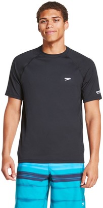 Speedo Men's Quick-Dry UPF 50+ Short Sleeve Swim Tee