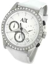 Giorgio Armani Exchange Leather Silver Dial Women's Watch #Ax5004