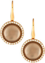 Roberto Coin 18k Rose Gold Smoky Quartz & Diamond Drop Earrings