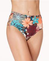Vince Camuto Printed Strappy High-Waist Bikini Bottoms Women's Swimsuit