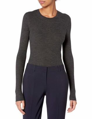 Theory Women's Long Sleeve Ribbed Crewneck Mirzi Sweater