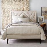 west elm Narrow-Leg Upholstered Bed Frame - Linen Weave