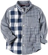 Carter's Toddler Boy Checkered Plaid Woven Button-Down Shirt