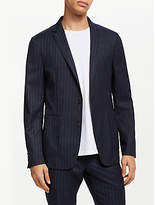 Kin Pin Stripe Slim Fit Suit Jacket, Navy
