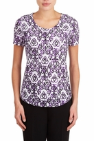 TanJay Tan Jay Purple Scroll Top