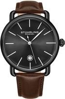 Stuhrling Original Men's Agent Black Case & Dial Watch