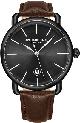 Stuhrling Original Men's Agent Black Case & Dial Watch