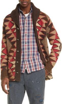 Ralph Lauren RRL Shawl Collar Belted Ranch Cardigan