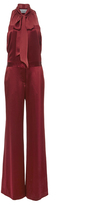 Prabal Gurung Silk Satin Tie Neck Jumpsuit