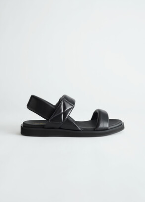 And other stories Padded Leather Slingback Sandals