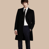 Burberry Wool Cashmere Tailored Coat , Size: 48, Black