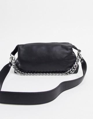 Bershka chain detail bag in black