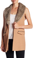 Jolt Detachable Faux Fur Collar Vest