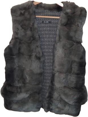 Bel Air Grey Rabbit Leather jackets
