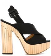 Charlotte Olympia 'Electra' sandals - women - Leather/Satin/metal - 38.5