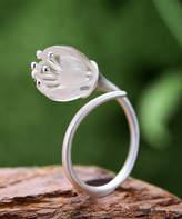Lotus Fun Women's Rings Silver - Crystal & Sterling Silver Ring