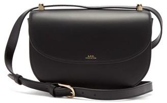 A.P.C. Geneve Cross-body Leather Bag - Black