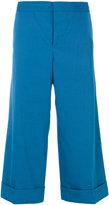 Marni Techno wide leg capri trousers