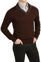 Cullen C89men Merino Wool Sweater - Shawl Collar (For Men)
