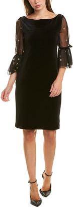Sara Campbell Mesh Sleeve Shift Dress