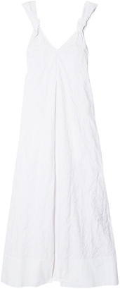 Elizabeth and James Denali Knotted Embroidered Cotton Maxi Dress