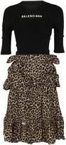 Balenciaga Leopard Skirt Dress