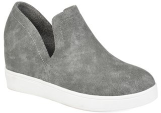 Brinley Co. Womens Side Cut-out Sneaker Wedge