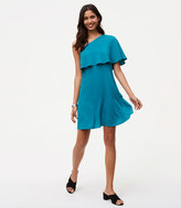 LOFT One Shoulder Flounce Dress
