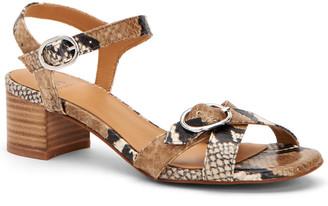 Aquatalia Estella Weatherproof Printed Leather Sandal