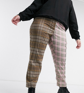 Collusion Plus exclusive checked trouser