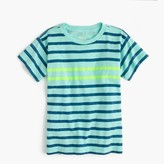 J.Crew Boys' neon double-striped T-shirt