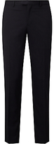 John Lewis Stripe Tailored Fit Suit Trousers, Navy
