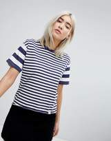 Pull&Bear Mixed Stripe Tee