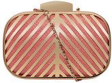 Dorothy Perkins Coral deco bar box clutch