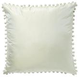 Ann Gish Ball Trim Taffeta Pillow