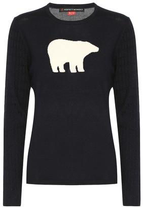 Perfect Moment Bear II merino wool sweater