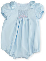 Luli & Me Ribbon-Shoulder Bubble Playsuit, Size 3-24 Months