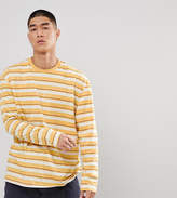 Puma Long Sleeve Striped Top In Yellow Exclusive To ASOS