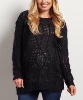 Black Back-Tie Maternity Sweater