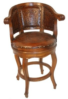 """New World Trading Swivel Leather Bar & Counter Stool (Set of 4 Seat Height: Counter Stool (26"""" Seat Height)"""