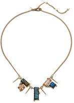 Alexis Bittar Geometric Multi Stone Bib with Satellite Crystal Spikes Necklace Necklace