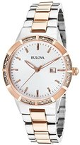 Bulova Women's Diamond Two-Tone SS Dial Indices Markers