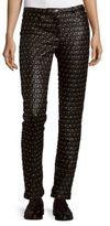 Versace Studded Leather Pants