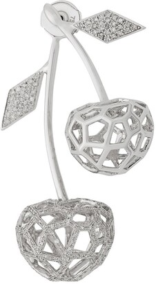 Natasha Zinko White gold and diamond double cherry earring