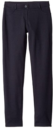 Nautica Stretch Interlock Leggings (Big Kids) (Su Navy) Girl's Casual Pants
