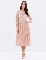 Oasis Lace Top Pleated Midi
